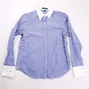 Ralph Lauren Boy's Striped Dress Shirt M